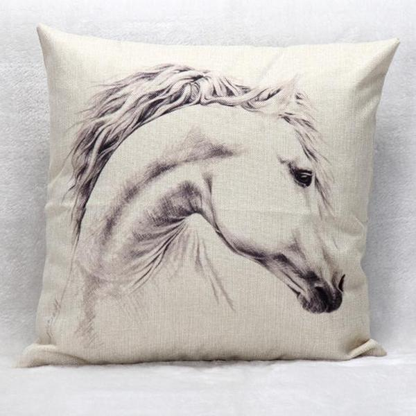 Horse Themed Pillow Image